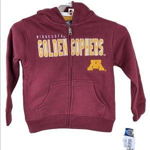 NCAA Minnesota Golden Gophers Zip Hoodie Boys S